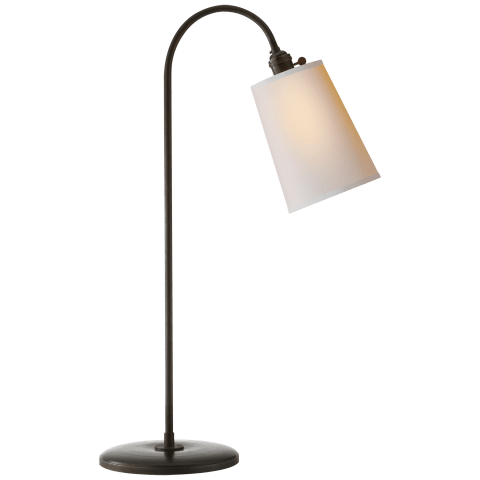 Mia Table Lamp in Aged Iron with Natural Paper Shade