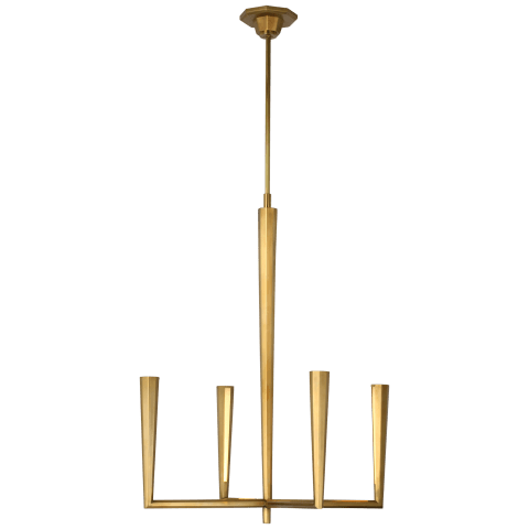 Galahad Small Chandelier in Hand-Rubbed Antique Brass