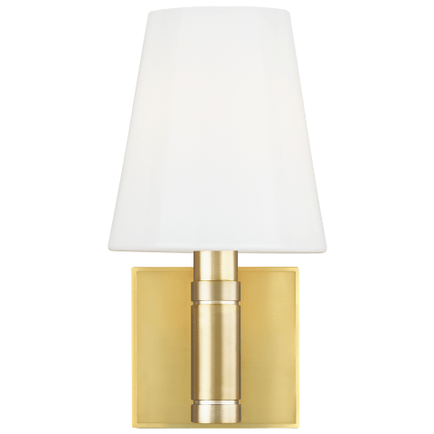 Beckham Classic 1 - Light Wall Sconce Burnished Brass