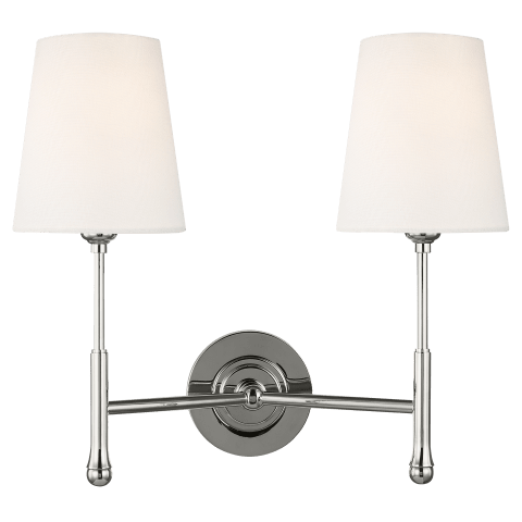 Capri Double Sconce Polished Nickel