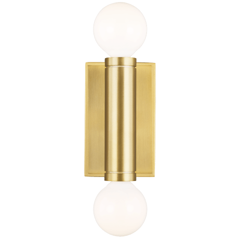 Beckham Modern 2 - Light Wall Sconce Burnished Brass