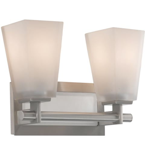 Clayton 2 - Light Vanity Brushed Steel