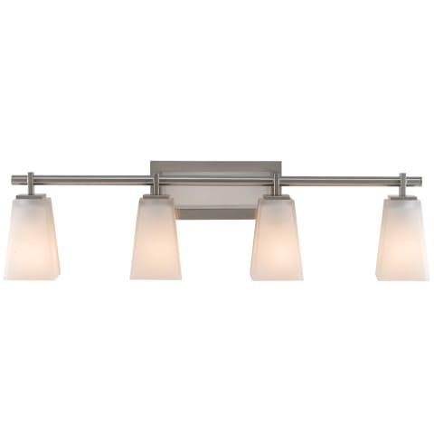 Clayton 4 - Light Vanity Brushed Steel