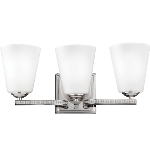 Pave 3 - Light Vanity Polished Nickel