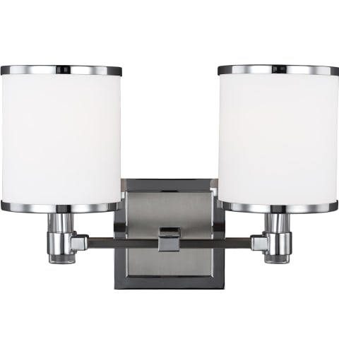 Prospect Park 2 - Light Vanity Satin Nickel / Chrome