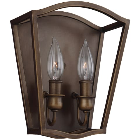 Yarmouth 2 - Light Sconce Painted Aged Brass