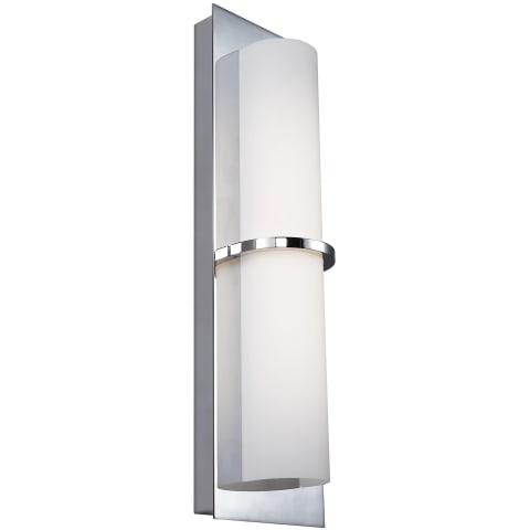 """Cynder 18"""" Tall LED Wall Sconce Chrome Bulbs Inc"""