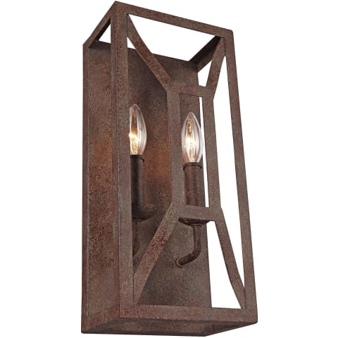 Marquelle 2 - Light Wall Sconce Weathered Iron
