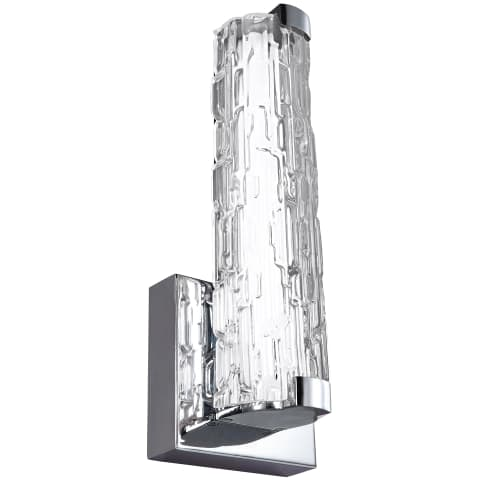 "Cutler 13"" LED Wall Sconce Chrome Bulbs Inc"