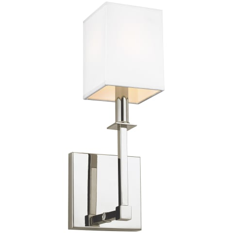 Quinn 1 - Light Wall Sconce Polished Nickel