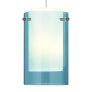 Echo Small Pendant Small Aquamarine satin nickel no lamp