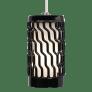 Liza Grande Pendant Black white incandescent 120v