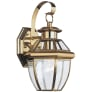 Lancaster One Light Outdoor Wall Lantern Polished Brass