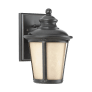 Cape May  Small One Light Outdoor Wall Lantern Burled Iron