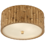 Frank Small Flush Mount in Gild with Frosted Glass