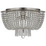 Jacqueline Flush Mount in Burnished Silver Leaf with Clear Glass
