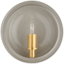 Leeds Small Round Sconce in Shellish Gray