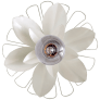 Keaton Mixed Floral Sconce in Light Cream