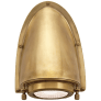 Grant Small Sconce in Natural Brass with Industrial Prismatic Glass