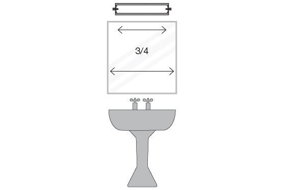 Wall Fixture Tips - Above a bathroom mirror