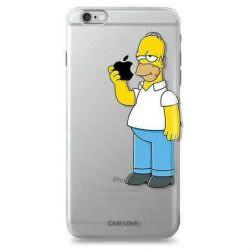 Funda Case Love Homero - Transparente