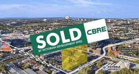 Development / Land commercial property sold at 26-30 Buckley Street Footscray VIC 3011