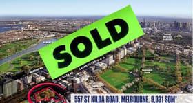 Development / Land commercial property sold at 557 St Kilda Road Melbourne 3004 VIC 3004