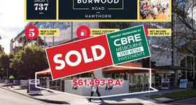 Shop & Retail commercial property sold at Shop 1/737 Burwood Road Hawthorn East VIC 3123