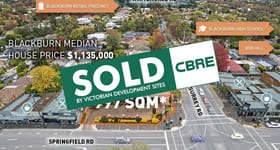 Development / Land commercial property sold at 119 Surrey Road Blackburn VIC 3130