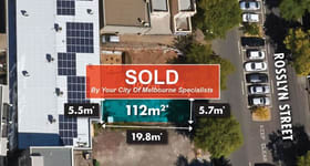Development / Land commercial property sold at 143 Rosslyn Street West Melbourne VIC 3003