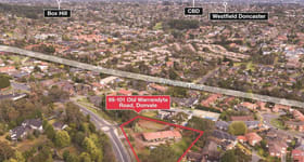 Development / Land commercial property sold at 99-101 Old Warrandyte Donvale VIC 3111