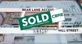 Development / Land commercial property sold at 7-11 Hill Street Cremorne VIC 3121