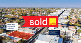 Development / Land commercial property sold at 929-933 High Street Armadale VIC 3143