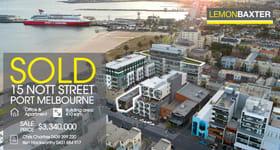Development / Land commercial property sold at 15 Nott Street Port Melbourne VIC 3207