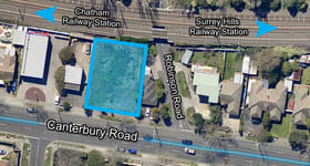 Development / Land commercial property sold at 463-465 Canterbury Road Surrey Hills VIC 3127
