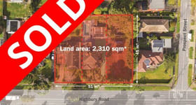 Development / Land commercial property sold at 246, 248 & 250 Highbury Road Mount Waverley VIC 3149