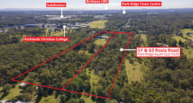 Rural / Farming commercial property for sale at .57 & 63 Rosia Road Park Ridge South QLD 4125