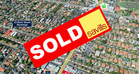 Development / Land commercial property sold at 23 Bent Street Bentleigh VIC 3204
