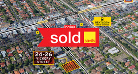 Development / Land commercial property sold at 24-26 Vickery Street Bentleigh VIC 3204