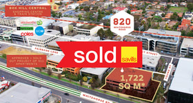 Offices commercial property sold at 820 Whitehorse Road Box Hill VIC 3128