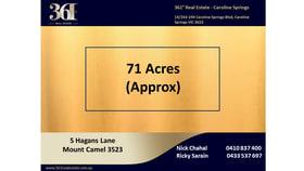 Rural / Farming commercial property for sale at 5 Hagans Lane Mount Camel VIC 3523