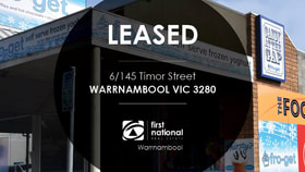 Shop & Retail commercial property for lease at 6/145 Timor Street Warrnambool VIC 3280