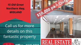 Showrooms / Bulky Goods commercial property for lease at 15 Old Great Northern Highway Midland WA 6056