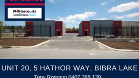 Offices commercial property for lease at 20/5 Hathor Way Bibra Lake WA 6163
