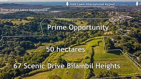 Development / Land commercial property for sale at 67 Scenic Drive Bilambil Heights NSW 2486