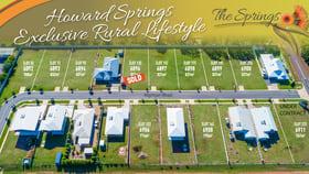 Development / Land commercial property for sale at 9 Nightjar Road Howard Springs NT 0835