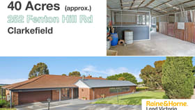 Rural / Farming commercial property for sale at 252 Fenton Hill Road Clarkefield VIC 3430