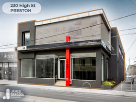 Showrooms / Bulky Goods commercial property sold at 230 High Street Preston VIC 3072