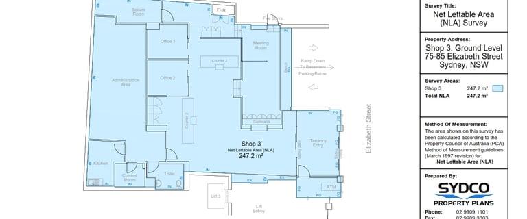 Shop & Retail commercial property for lease at Shop 3/75 Elizabeth Sydney NSW 2000