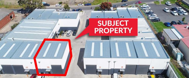 Factory, Warehouse & Industrial commercial property leased at Unit 18, 5 Bridge Street Newtown VIC 3220